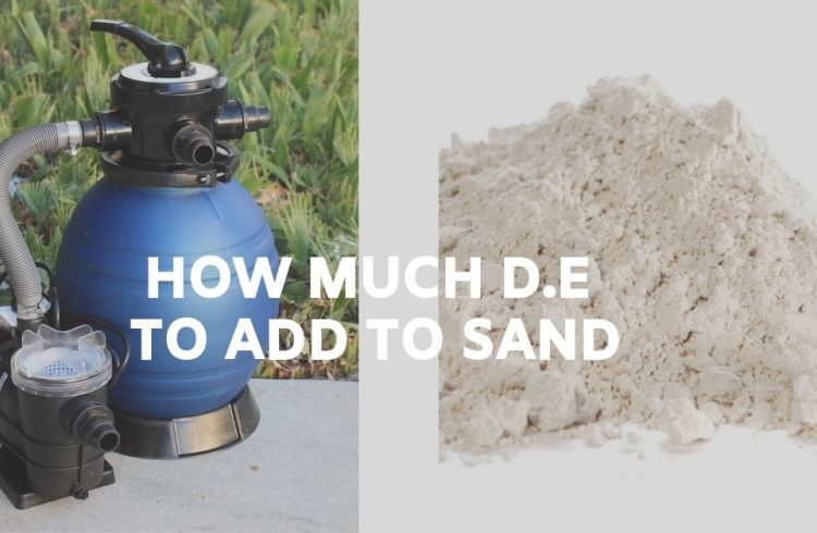 How Much DE to Add to Sand